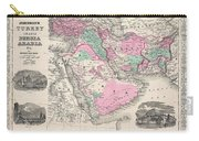 1866 Johnson Map Of Arabia Persia Turkey And Afghanistan Iraq Carry-all Pouch