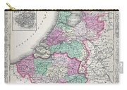 1866 Johnson Map Of Holland And Belgium Carry-all Pouch