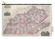 1866 Johnson Map Of Kentucky And Tennessee  Carry-all Pouch