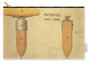 1868 Base For Baseball Players Patent In Sepia Carry-all Pouch