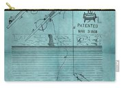 1868 Fishing Tackle Patent Blue Carry-all Pouch