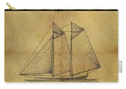 1869 Sailing Ship Patent Carry-all Pouch