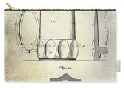 1873 Beer Mug Patent Carry-all Pouch
