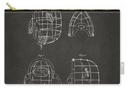 1878 Baseball Catchers Mask Patent - Gray Carry-all Pouch