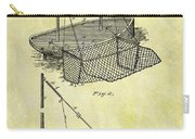 1882 Fishing Net Patent Carry-all Pouch
