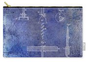 1884 Corkscrew Patent Blue Carry-all Pouch