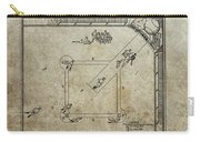 1887 Baseball Game Patent Carry-all Pouch