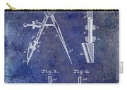 1888 Draftsmans Compass Patent Blue Carry-all Pouch