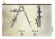 1888 Draftsmans Compass Patent  Carry-all Pouch