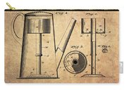 1889 Coffee Maker Patent Carry-all Pouch