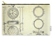 1889 Stop Watch Patent Art Sheets 1-2 Carry-all Pouch