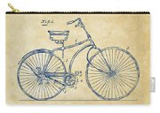 1890 Bicycle Patent Minimal - Vintage Carry-all Pouch