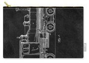 1891 Locomotive Engine Patent Carry-all Pouch