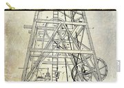 1893 Oil Well Rig Patent Carry-all Pouch