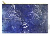 1893 Pocket Watch Patent Blue Carry-all Pouch
