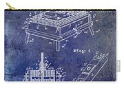 1894 Wine Press Patent Blue Carry-all Pouch