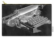 1896 Typewriter Patent Illustration Carry-all Pouch