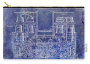 1897 Beer Brewering Patent Blue Carry-all Pouch
