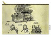 1898 Locomotive Patent Carry-all Pouch