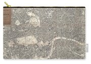 1899 Bacon Pocket Plan Or Map Of London  Carry-all Pouch