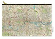 1899 Bartholomew Fire Brigade Map Of London England  Carry-all Pouch