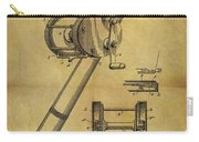 1899 Fishing Reel Patent Carry-all Pouch