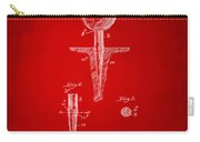 1899 Golf Tee Patent Artwork Red Carry-all Pouch