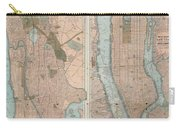 1899 Home Life Map Of New York City  Manhattan And The Bronx  Carry-all Pouch