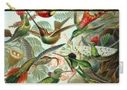 1899 Hummingbird Species Art Forms Of Nature Print Carry-all Pouch