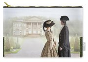 18th Century Georgian  Couple Looking Towards A Country Estate Carry-all Pouch