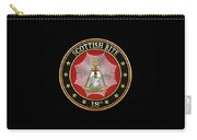 18th Degree - Knight Rose Croix Jewel On Black Leather Carry-all Pouch