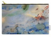 19. Blue Green Brown Abstract Glaze Painting Carry-all Pouch