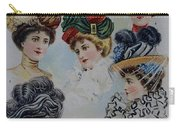 19 Century Ladies Hats The Delineator Early Autumn Hats Carry-all Pouch