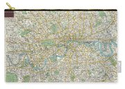 1900 Bacon Pocket Map Of London England  Carry-all Pouch