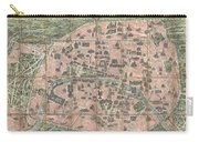 1900 Garnier Pocket Map Or Plan Of Paris France  Eiffel Tower And Other Monuments  Carry-all Pouch