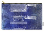 1900 Knife Switch Patent Blue Carry-all Pouch