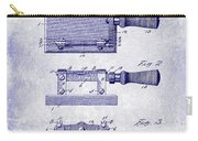 1900 Knife Switch Patent Blueprint Carry-all Pouch