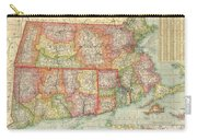 1900 National Publishing Railroad Map Of Connecticut Massachusetts And Rhode Island  Carry-all Pouch