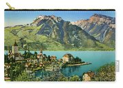 1900s Switzerland Swiss Alps Spiez Mit Ralligstoecke Carry-all Pouch