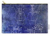 1902 Watchmakers Lathes Patent Blue Carry-all Pouch