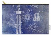 1903 Beer Tap Patent Blue Carry-all Pouch