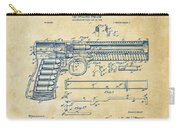 1903 Mcclean Pistol Patent Artwork - Vintage Carry-all Pouch