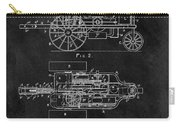 1903 Tractor Blueprint Patent Carry-all Pouch