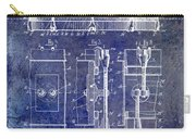 1904 Drum Patent Blue Carry-all Pouch