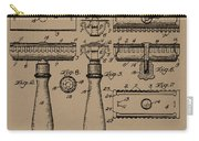 1904 Gillette Razor Patent Drawing Carry-all Pouch
