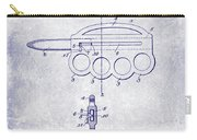 1906 Oyster Shucking Knife Patent Blueprint Carry-all Pouch