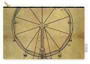1907 Ferris Wheel Patent Carry-all Pouch