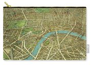 1908 London Vintage Map Poster Carry-all Pouch