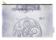 1908 Pocket Watch Patent Blueprint Carry-all Pouch