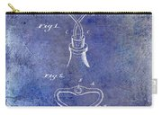1909 Cork Extractor Patent Blue Carry-all Pouch